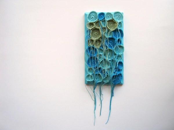 Tentacles Fiber Art Soft Sculpture Wall Hand Crocheted