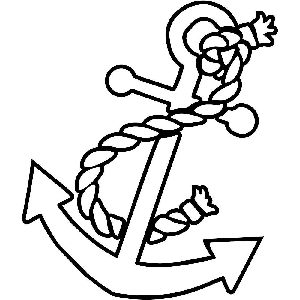 vinyl decal nautical ship anchor with rope boat ocean