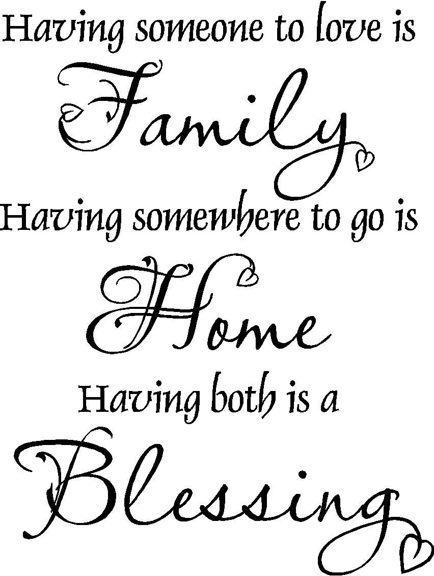 Family Home Blessing Vinyl Wall Decal FAM12 by VisionsInVinyl