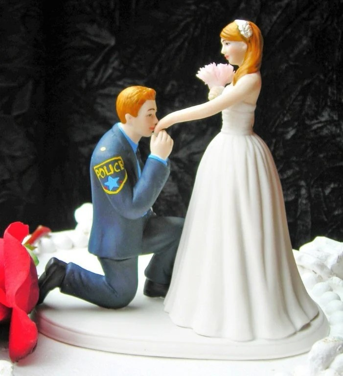 Police Officer COP prince wedding cake topper by CarolinaCarla