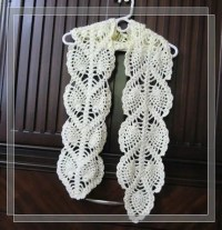 PATTERN in PDF Crocheted Scarf Pineapple by LilyKnitting ...