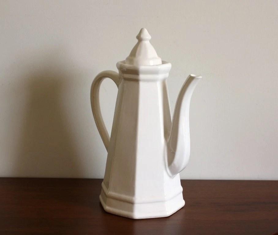 2 person kitchen table hutch furniture large vintage pfaltzgraff ironstone white pitcher