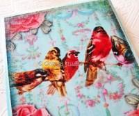 Items similar to Peony Birds Decoupage Wall Art botanical ...