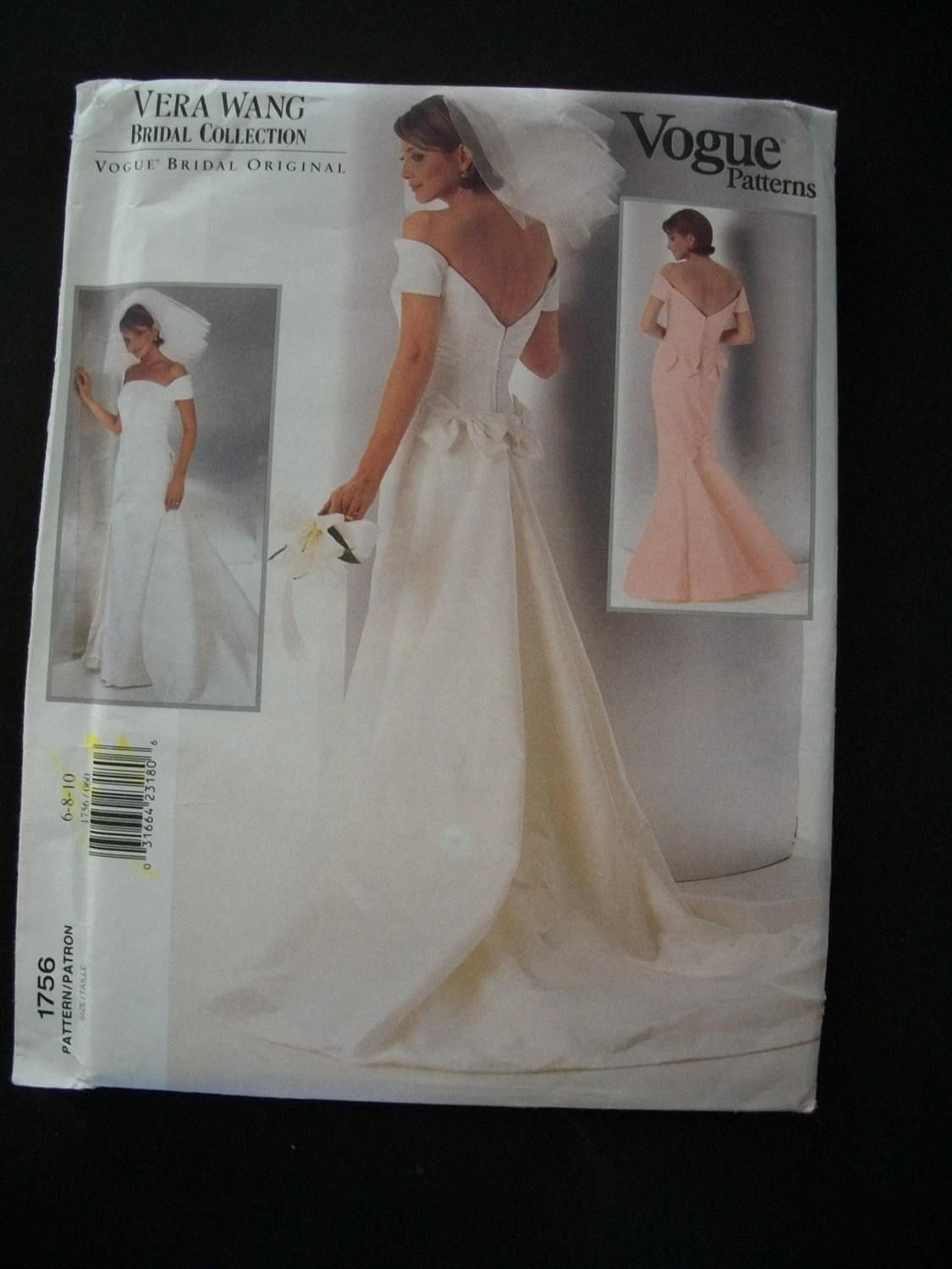Vera Wang Wedding Gown Pattern Vogue 1756 Size 610