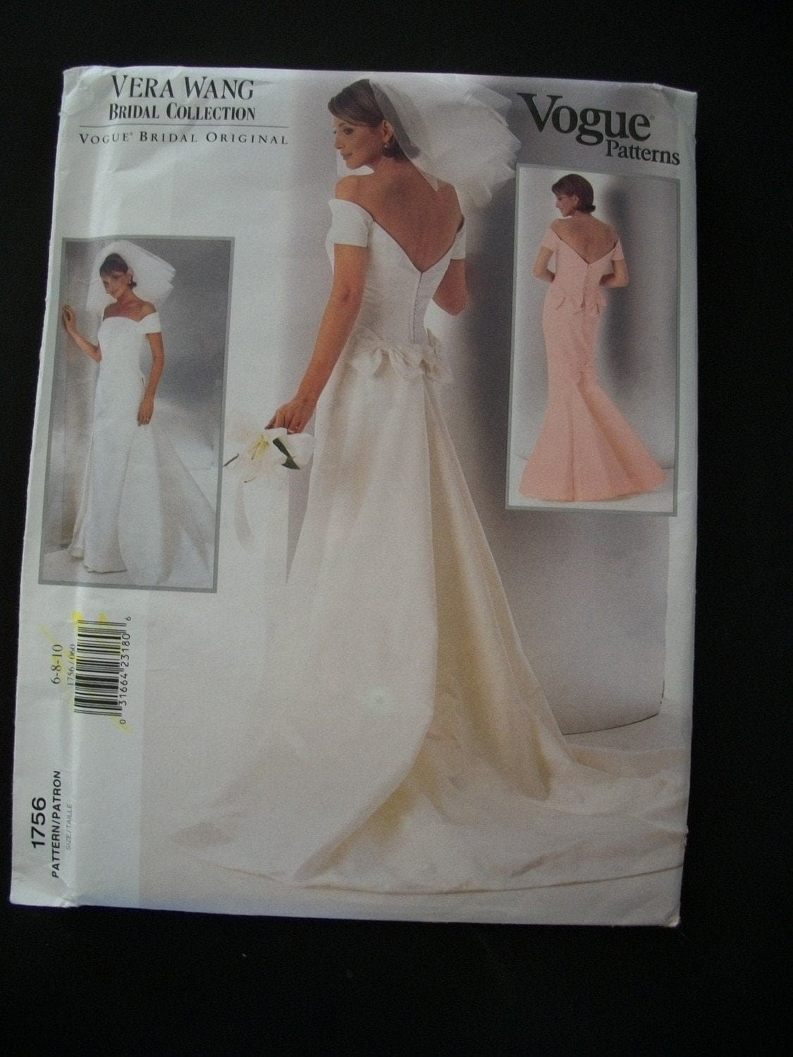 Vera Wang Wedding Gown Pattern Vogue 1756 Size by
