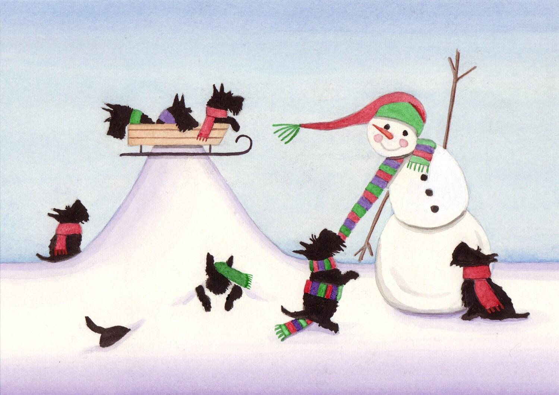 Scottie Christmas Cards