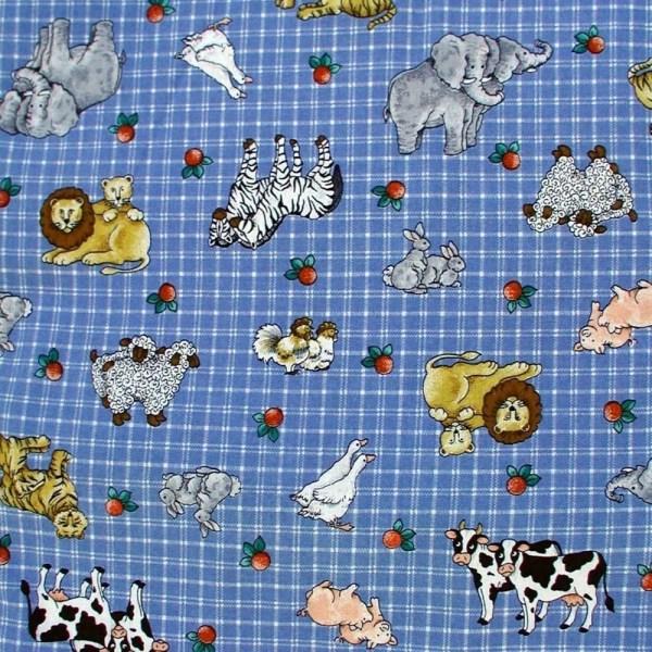 Noah' Ark Fabric Cotton 1yard Sandisstashshop