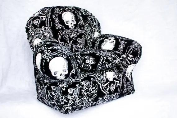 american girl doll high chair tio easy or teddy bear in black skull print