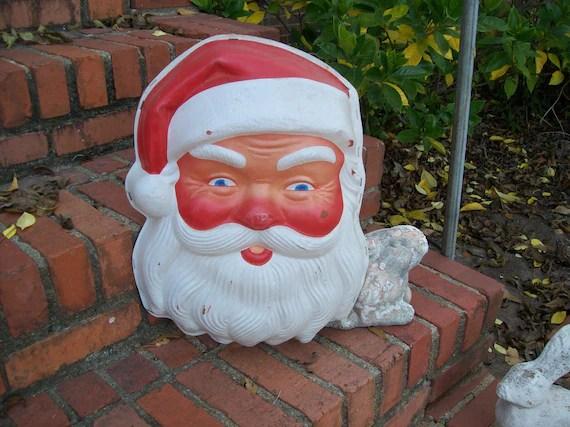 Vintage Santa Lighted Wall Santa Face Christmas Decorations