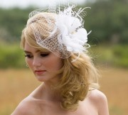floral hair accessory ivory bridal