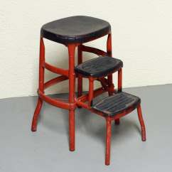 Kitchen Step Stool With Seat Wholesale Cabinets Vintage Cosco Chair