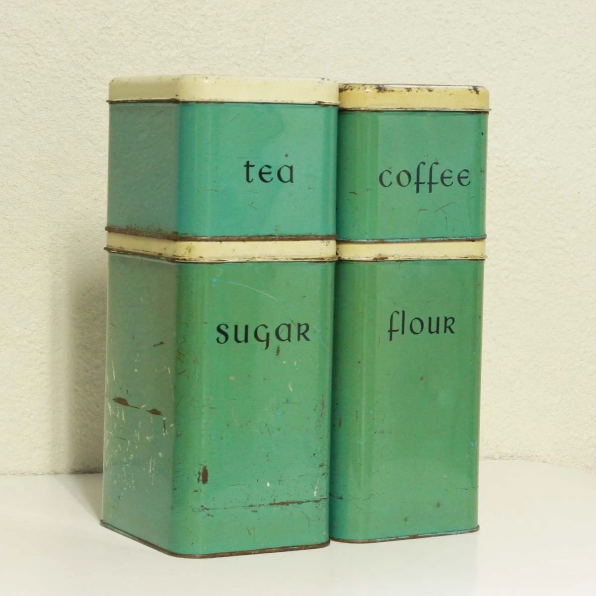 vintage retro kitchen canisters ideasidea vintage canisters tins metal green teal set