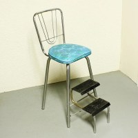 Vintage kitchen stool step stool stool chair fold-out