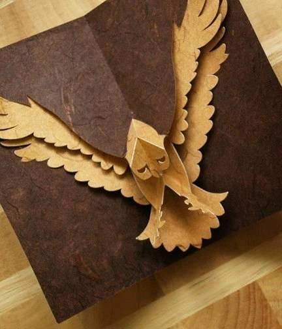 Kirigami Hawk Pop Up Card Make Yourself