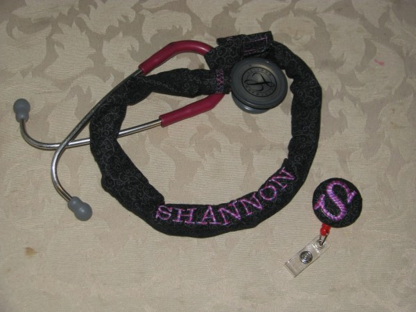 Stethoscope Cover And Matching Id Badge Shannonssweatshop