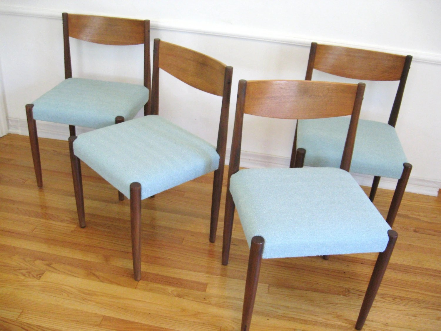 Retro Dining Chair 60s Danish Modern Teak Wood Vintage Dining Chairs By