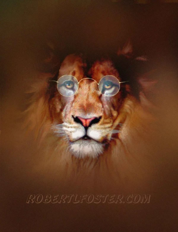 Lion Art Painting Print Wise King Of Beasts Lewfoster