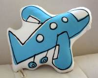 Airplane Pillow more colors blue pink orange yellow or