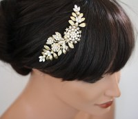 Gold Wedding Hair Piece Bridal hair Comb Vintage by ...