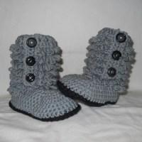 How To Crochet Ugg Style Baby Booties