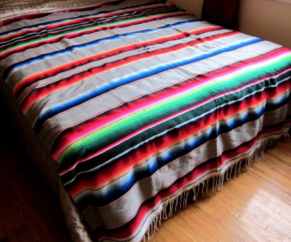 Vintage Mexican Saltillo Blanket Wool