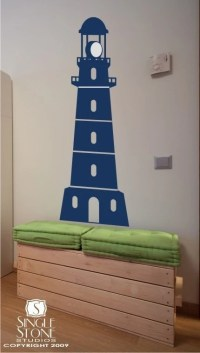 Lighthouse Wall Decal by singlestonestudios on Etsy