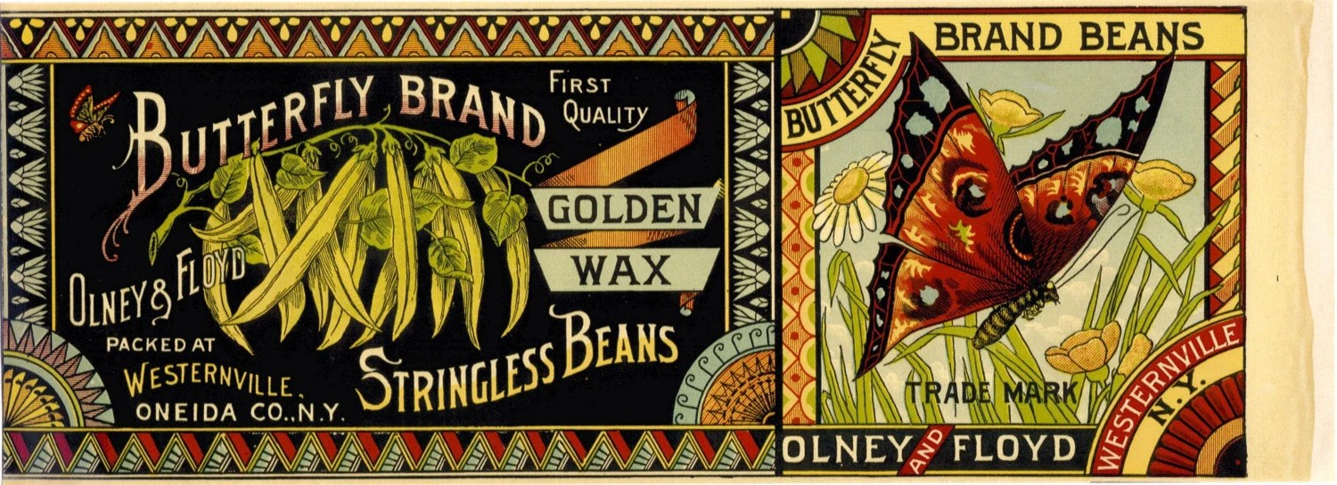 Butterfly Brand Stringless Beans can label by LABELSTONE