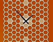 22in Large Honeycomb Modern Wall clock - pilotdesign