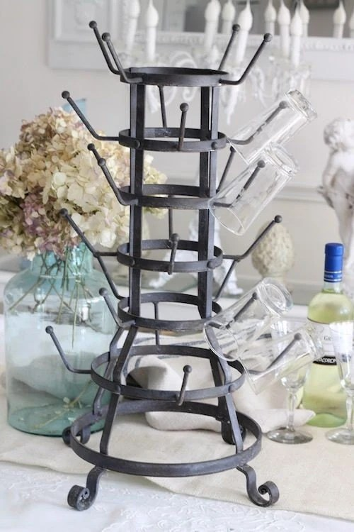 French Zinc Style Bottle Drying Rack by Shabbyfufu on Etsy
