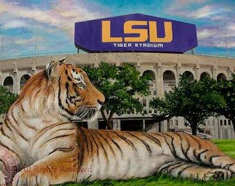 Tiger stadium Etsy