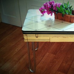 Kitchen Silverware Remodel Cabinets Vintage Enamel Top Table By Lisabretrostyle2 On Etsy