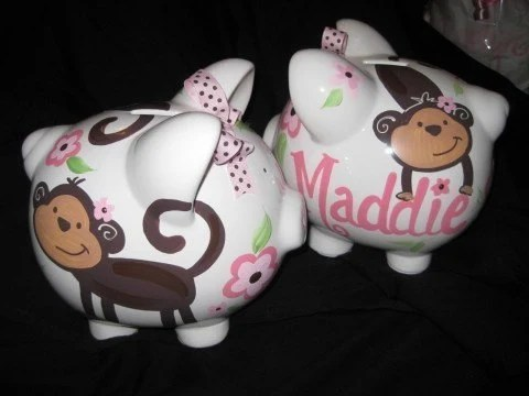 Large Personalized Piggy Banks