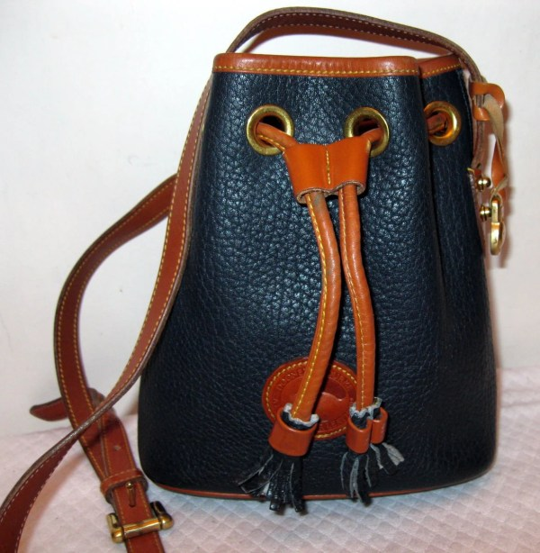 Dooney And Bourke Usa Sm Drawstring Bucket Bag Satchel