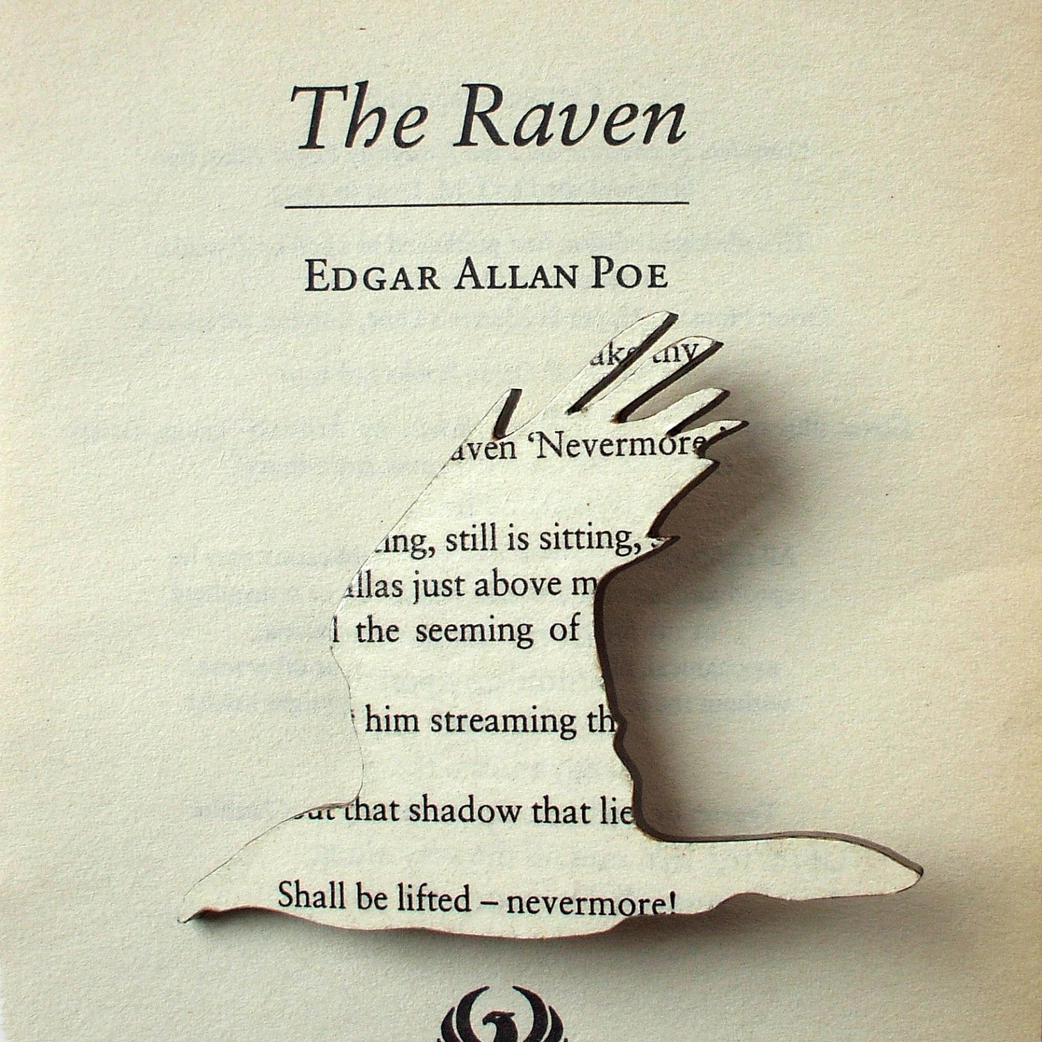 Poe The Raven Brooch Classic Book Brooches Made With