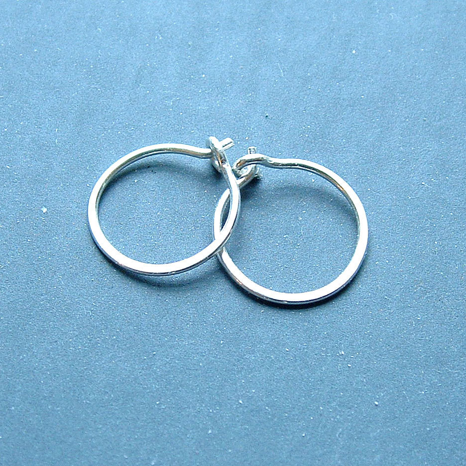 Small Sterling Silver Hoop Earrings Handmade Silver Hoops
