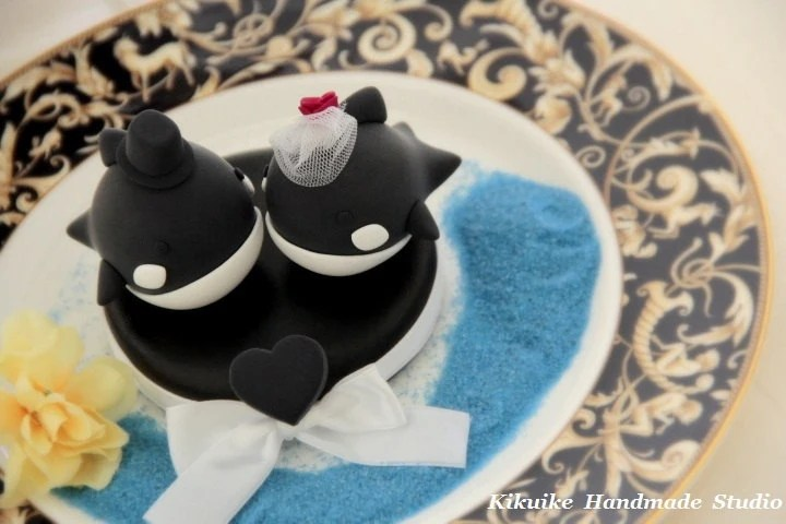 bride and groom orca