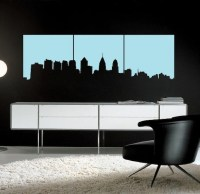 Philadelphia Skyline Vinyl Wall Decal Art