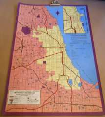 Vintage Chicago Map . 1960s