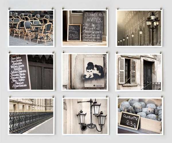 Fine Art Paris Wall Prints Black