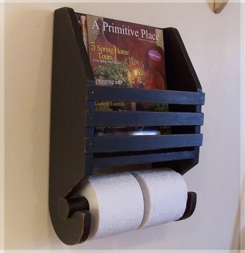 Items similar to Primitive Magazine Rack Toilet Paper