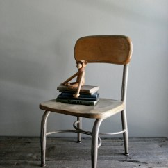 Heywood Wakefield Chairs Wrought Iron Glass Top Table And Child 39s School Chair By