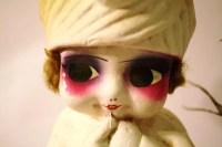 Vintage 1920 Carnival Chalkware Vamp Dollmohair Kewpie