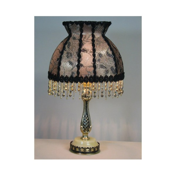 Vintage Table Lamp With Victorian Shade Letter