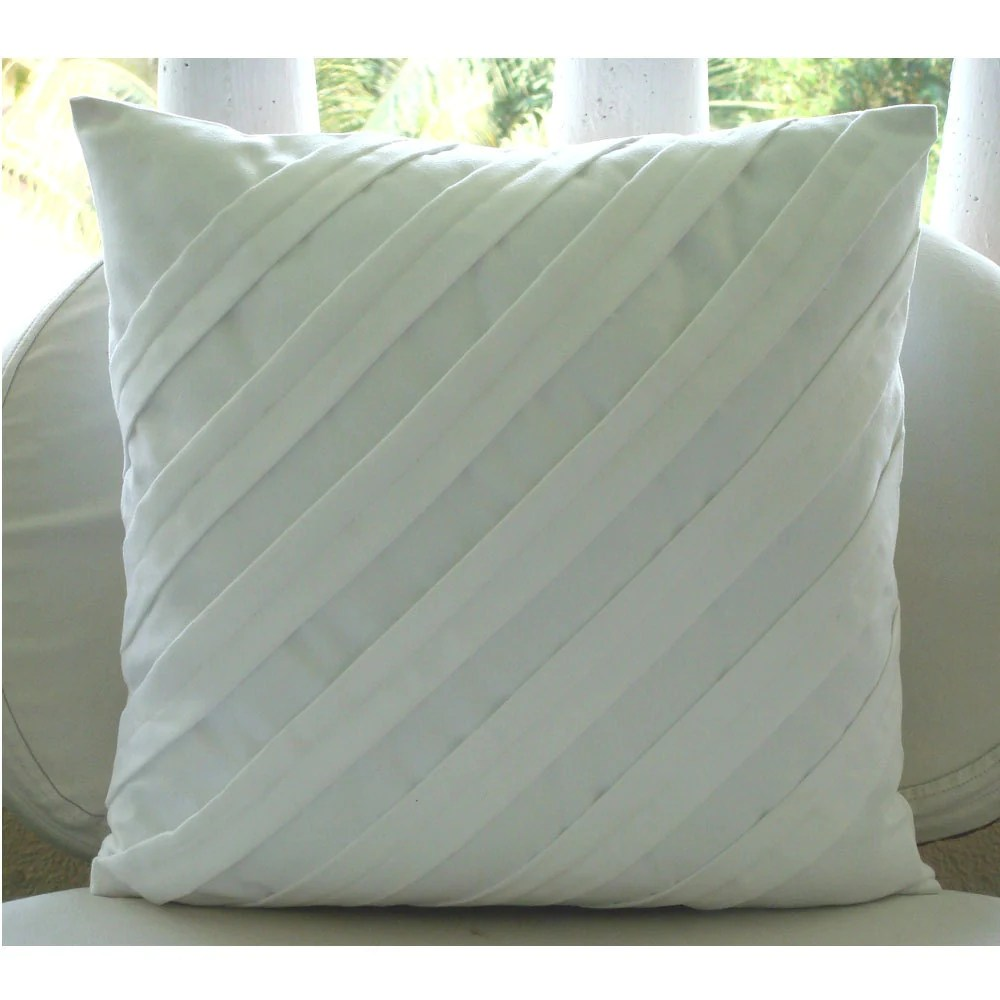Contemporary White Euro Sham Covers 26x26 Inches Suede