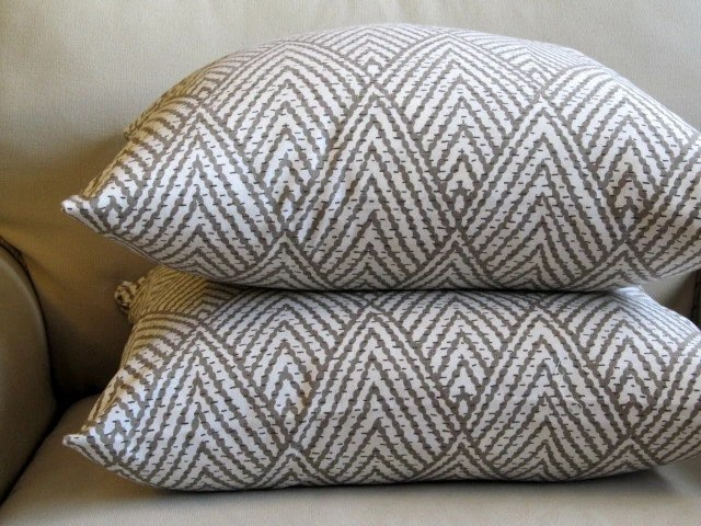 PAIR EURO pillow covers Ikat Taupe 26x26 by yiayias on Etsy