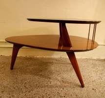Vintage Danish Mid Century Modern Atomic Two Tier Table
