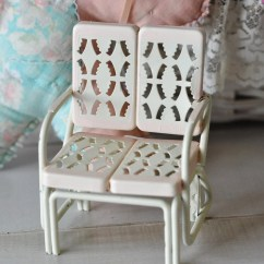 Childs Lawn Chair Toys R Us High Chairs Vintage White Metal Love Seat Doll By Myramelinda On Etsy