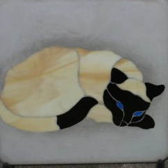 Create Your Own Living Room Set Carpets For Rooms Siamese Cat Garden Art Stained Glass Stepping Stone And Plaque