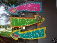 Tropical Grillin' Chillin' Tiki Bar Pool Party Arrows