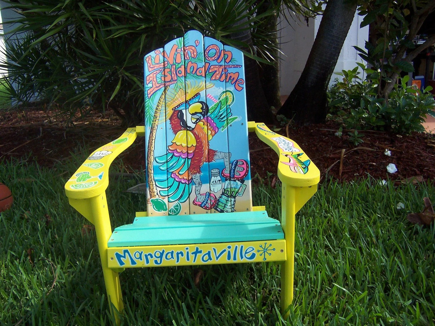 painted adirondack chairs cosco folding padded tropical chair handcrafted hand livin 39